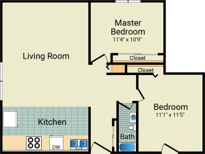 2 Bed / 1 Bath / 820 sq ft / Availability: Please Call / Rent: $845